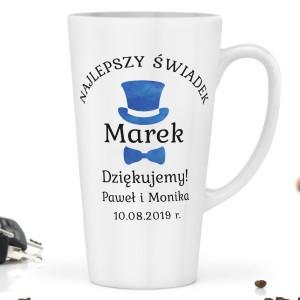 prezent dla świadka kubki do kawy z imieniem elegancik