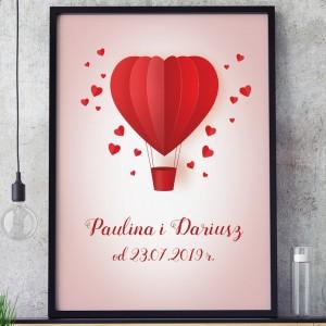 prezent ślubny obrazy na płótnie w ramkach balon miłości