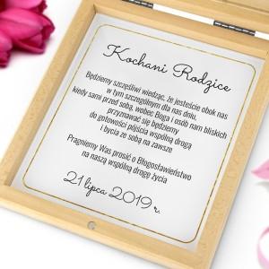 zaproszenia dla rodziców z prośbą o błogosławieństwo rustykalne