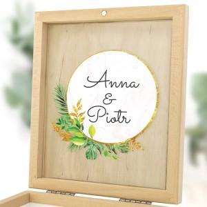 zaproszenia dla rodziców na ślub w szkatułce rustykalne