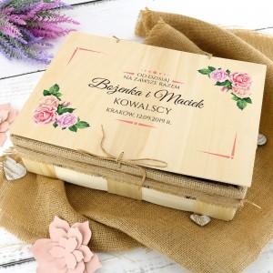 zestaw kąpielowy w skrzynce z dedykacją od dzisiaj na oryginalny prezent na ślub