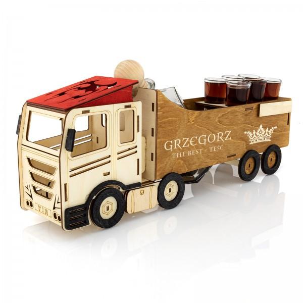 karafka grawerowana ciężarówka the best teść na prezent dla teścia