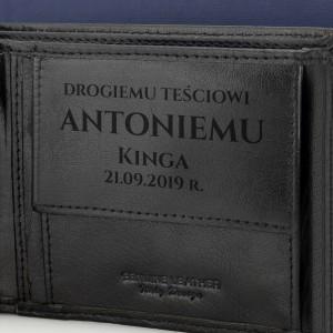 portfel skórzany z grawerem na prezent dla teścia na święta drogiemu teściowi