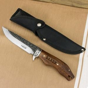 nóż myśliwski z grawerem na prezent dla teścia na imieniny