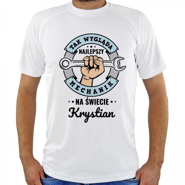 koszulka z nadrukiem na prezent na urodziny dla mechanika najlepszy mechanik