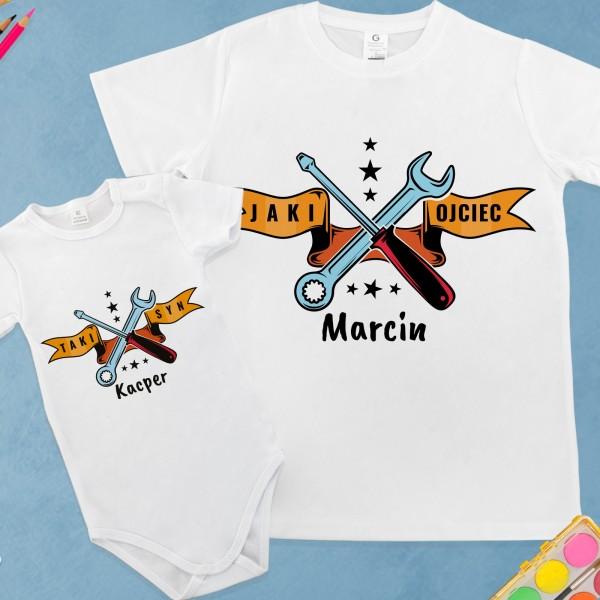 koszulka i body z własnym nadrukiem na śmieszny prezent dla mechanika majsterkowy team