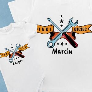 koszulka z nadrukiem i body dla dziecka na prezent dla mechanika majsterkowy team