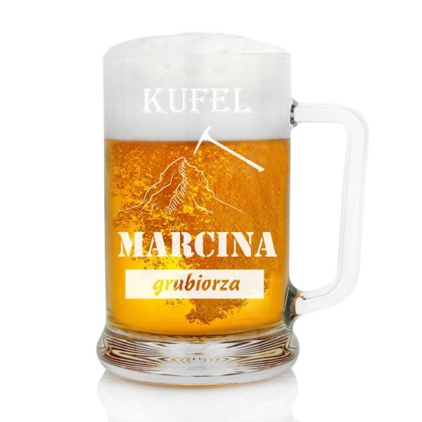 kufel do piwa z dedykacją na prezent dla górnika dla grubiorza