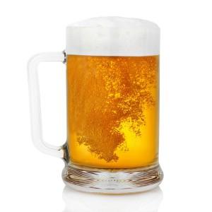 szklany kufel do piwa na prezent dla górnika emeryta