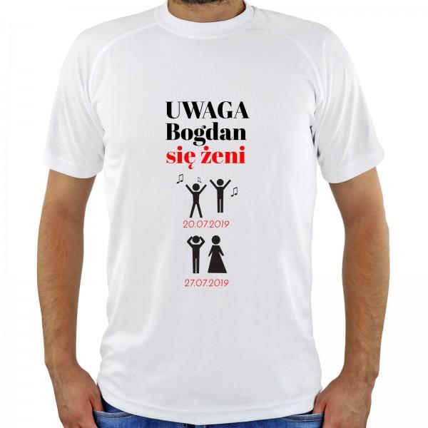 śmieszne koszulki z nadrukiem na prezent na kawalerski się żeni