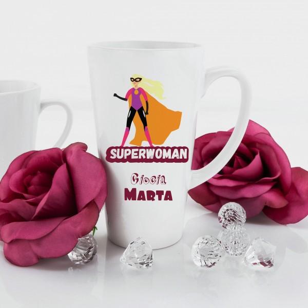 kubek z nadrukiem na prezent dla cioci superwoman