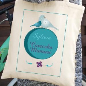 torba z własnym nadrukiem córeczka mamusi na prezent dla córki na urodziny