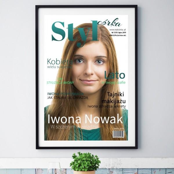 okładka magazynu ze zdjęciem na prezent dla córki styl córka