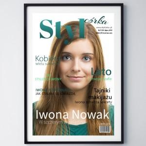 pomysł na prezent dla córki okładka gazety z własnym zdjęciem styl córka
