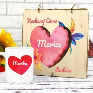 kubek personalizowany w pudełku na prezent dla córki na urodziny kochanej córce
