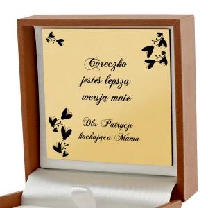 pudełko biżuteryjne z dedykacją na upominek dla córki gwiazdka