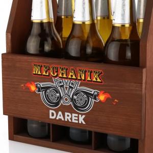 skrzynka na piwo z grawerem na prezent dla mechanika samochodowego