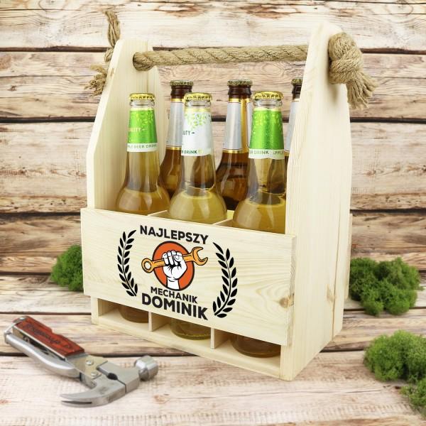 skrzynka na piwo na prezent dla chłopaka mechanika klucz w dłoń