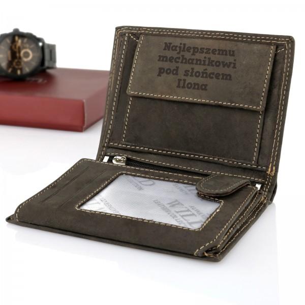 portfel z grawerem na prezent dla mechanika najlepszemu mechanikowi