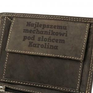 portfel męski z grawerem na gadżet dla mechanika najlepszemu mechanikowi