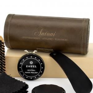 elegancki zestaw do czyszczenia butów na prezent dla mężczyzny