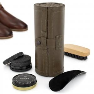 akcesoria do czyszczenia butów w etui na prezent dla męża