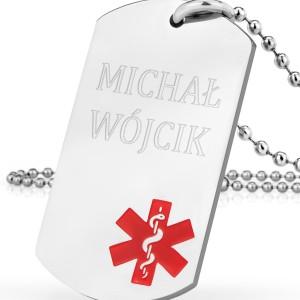 identyfikator medyczny z personalizacją na oryginalny prezent zawieszka życia