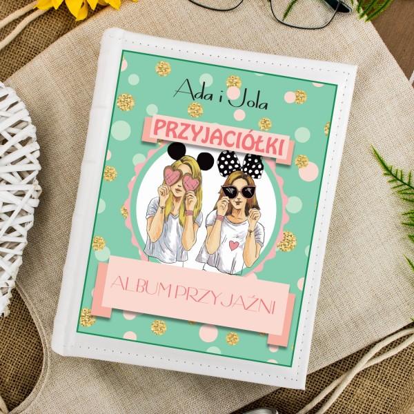 album na zdjęcia z dedykacją na prezent dla przyjaciółki na urodziny album przyjaźni