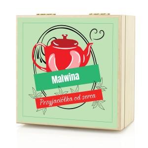 pomysł na prezent dla przyjaciółki zestaw herbat w skrzynce od serca