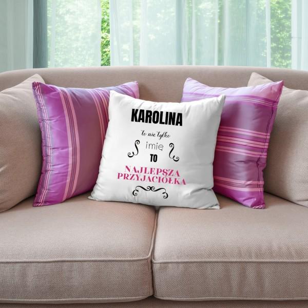 poduszka z napisem na prezent dla przyjaciółki