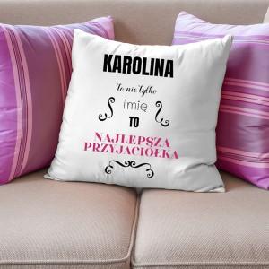 poduszka z nadrukiem na prezent na urodziny dla przyjaciółki