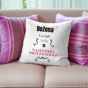 poduszka personalizowana na kreatywny prezent dla przyjaciółki