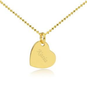 naszyjnik serce z grawerem na prezent dla przyjaciółki na 18 od serca