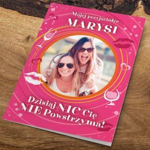 kartka dla przyjaciółki z życzeniami