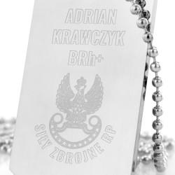 stalowy nieśmiertelnik z danymi na prezent dla żołnierza zawodowego siły zbrojne