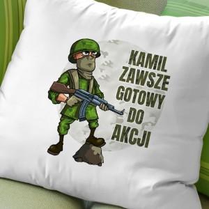 poduszka personalizowana na prezent dla wojskowego zawsze gotowy