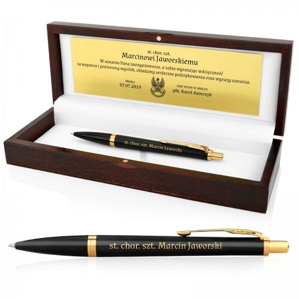 długopis z grawerem na prezent dla wojskowego Parker IM GT