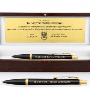 długopis na prezent na prezent dla żołnierza zawodowego Parker IM GT