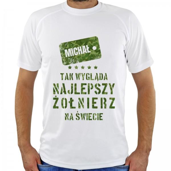 koszulka z nadrukiem na prezent dla żołnierza śmieszne
