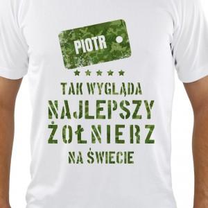koszulka personalizowana na prezent dla żołnierza