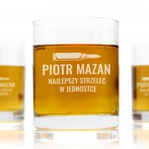szklanki do whisky z grawerem na prezent dla żołnierza najlepszy strzelec