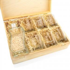 karafka grawerowana ze szklankami w pudełku na upominek dla żołnierza najlepszy strzelec