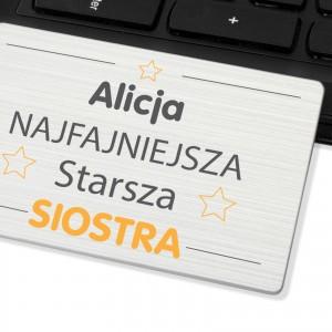 pendrive personalizowany na pomysł na prezent dla siostry