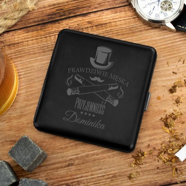 papierośnica metalowa z grawerem na prezent dla mężczyzny męska przyjemność