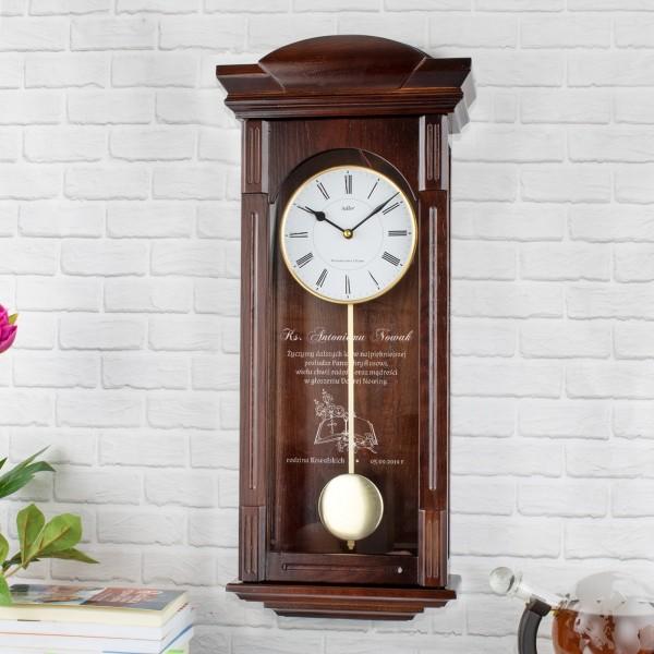 elegancki zegar z grawerem na prezent dla księdza najpiękniejsza posługa