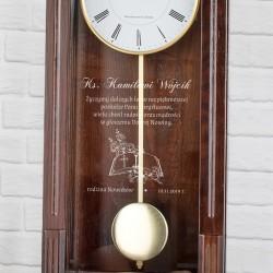 wahadłowy zegar z dedykacją na prezent dla księdza na jubileusz najpiękniejsza posługa