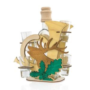 karafka z dedykacją i kieliszkami na prezent dla myśliwego grawer rykowisko