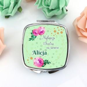 lusterko kompaktowe na oryginalny prezent dla siostry dalie