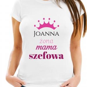 koszulka na urodziny dla kobiety żona mama szefowa
