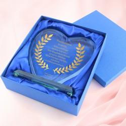 serce szklane z grawerem na pomysł na prezent dla szefowej